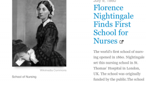 Florence Nightingale Finds the First School of Nursing