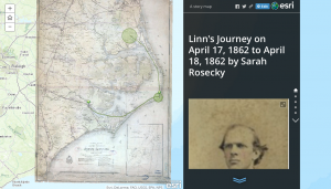 Linn's Journey from April 17 ,1862 to April 18, 1862